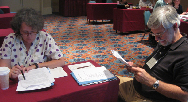 ADP registrant Celia Hughes (VSA arts of Texas) and special guest Ike Presley of the American Foundation for the Blind.