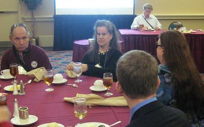 The ADP Gala Luncheon--Pat Sheehan (ACB Board member and member of the ADP committee), Lisa Helen Hoffman, Eric Bridges, Kim Charlson.