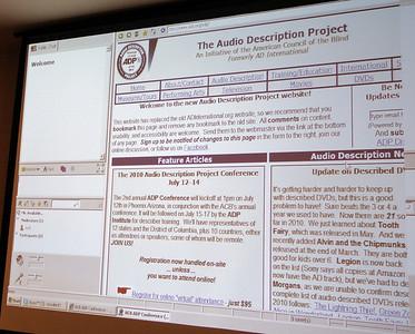 Virtual attendees respond via text