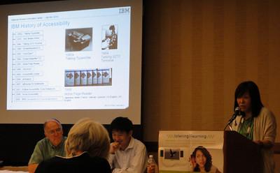 Dr.Chieko Asakawa with Dr. Hironobu Takagi-Japan