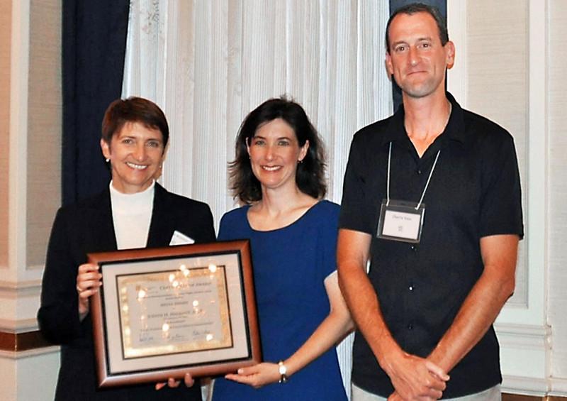 14-Media Award, Trail Planning for California Communities. Judith Malamut, AICP (Principal, LSA Associates), Darcy Kremin, AICP (Northern Section Director), Charlie Knox, AICP (juror)