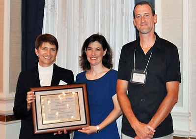 14-Media Award, Trail Planning for California Communities. Judith Malamut, AICP (Principal, LSA Associates), Darcy Kremin, AICP (Northern Section Director), Charlie Knox, AICP (juror)