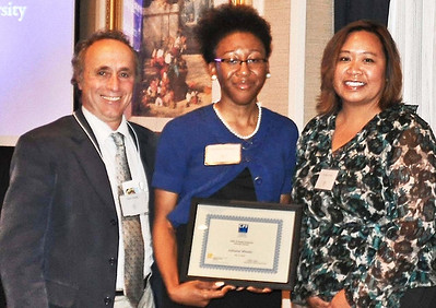 05-CPF Honorable Mention. Alex Hinds (juror), Adrienne Wheeler (UC Berkeley), Virginia Viado (Chapter Board)