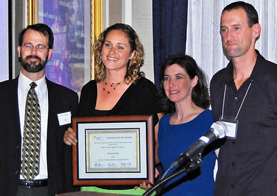 16-Education Project Award, Great Communities Collaborative. Jeff Hobson (TransForm), Connie Galambos Malloy (Urban Habitat), Darcy Kremin, AICP (Northern Section Director), Charlie Knox, AICP (juror)