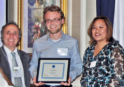 04-CPF Northern Section Award. Alex Hinds (juror), Nathan Rogers (San Francisco State University), Virginia Viado  (Chapter Board)