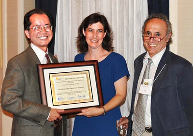 22-Planning Landmark Award, East Bay Regional Park District. Larry Tong, Darcy Kremin, AICP (Northern Section Director), Alex Hinds (juror)