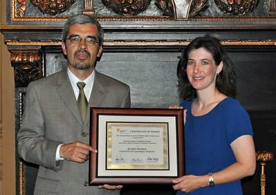 11-Planning Achievement Award – Advocacy/Social change/Diversity planning. Alvaro Huerta (UC Berkeley) and Darcy Kremin, AICP (Northern Section Director)