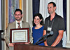 09-Distinguished Leadership Award – Student Planner. Justin Meek (San José State University), Darcy Kremin, AICP (Northern Section Director), Charlie Knox, AICP (juror)