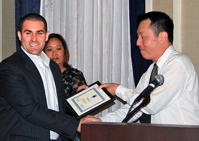 03-CPF, PBS&J Scholarship. Jorge Rick Gosalvez (San Jose State University), Virginia Viado (Chapter Board), Hing Wong, AICP