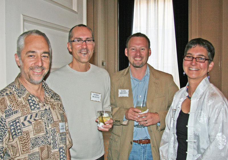 """Awards Jury Coordinator Alex Amoroso, Terry Blount, and Mark Rhoades, with Victoria Eisen, Eisen 