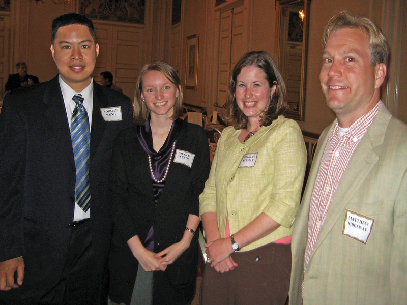L to R: Norman Wong, Kimley Horn and formerly with Fehr & Peers, Inc., where he worked on the Milpitas Transit Area Plan (Comprehensive Planning Award - Small Jurisdiction). Nicole Hervol, Meghan Mitman, and Matthew Ridgway (Best Practices Award to Fehr & Peers, Inc., for The California Pedestrian Safety Assessments Program)