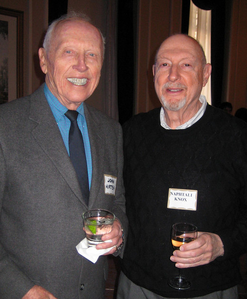 AICP Fellows John Hirten, a former executive director of APA and SPUR's first executive director, and Naphtali Knox, editor of APA California's Northern News