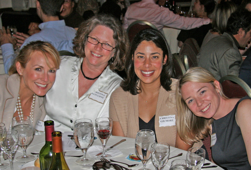 Education Project Award for the San Mateo SMART Public Outreach and Climate Change Campaign: Mary Hewitt, PMC; Awards juror Christina Ratcliffe; Christina Gilmore, City of San Mateo; Sarah Arvidson, PMC.