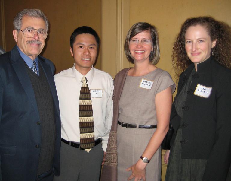 Awards juror Earl Bossard, Allen Tai (Administration Director, APA California Northern), Dayana Salazar (SJSU), and Asha Agrawal