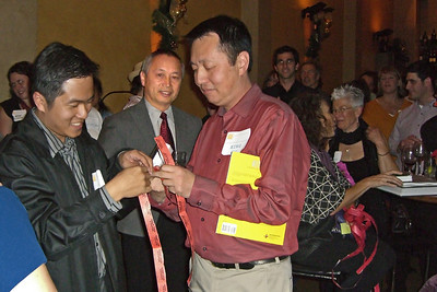 Three CPF raffle winners, Allen Tai, Hanson Hom, and Hing Wong (all AICP)