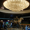 Statue and chandelier in the Grand Sierra Resort