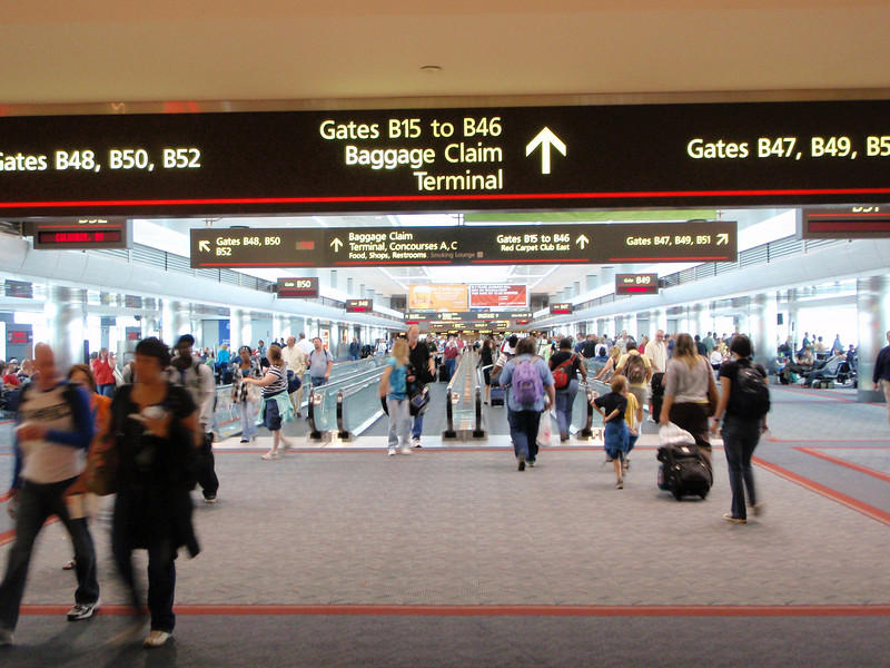 Denver airport--main hallway.