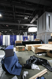 Day 2 - The show floor on setup day.  Yes, this is how it always looks before every show no matter where it is.  No, that is not Prioria's mess :)