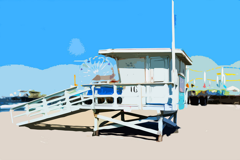 Lifeguard Station #16, Santa Monica, California