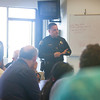 Milpitas Police Chief Steve Pangelinan starts the forum talk.