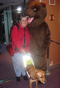 Marlaina and Agnes also get a bear hug