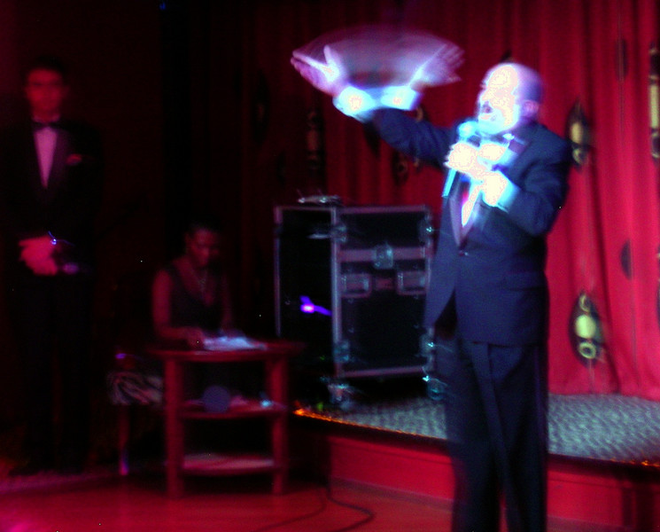 """Later that night, the first qualifying round of """"Superstar Karaoke"""" was held--I performed """"If I Was A Rich Man"""" ... in a tux!  Oy.  I think that superb irony is what propelled me to the finals."""