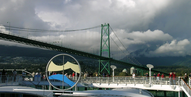 """Approaching Vancouver's Granville Street Bridge--""""How do they get the bridge to move so fast?!"""""""