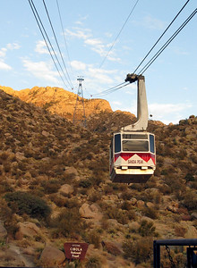 Here come de Tram!  Note signage:  Entering Cibola National Forest.