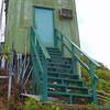 Lower site stairs below building