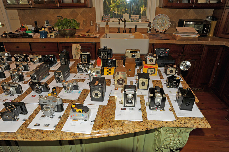 Vintage Antique Cameras - AFTER cleaning and testing