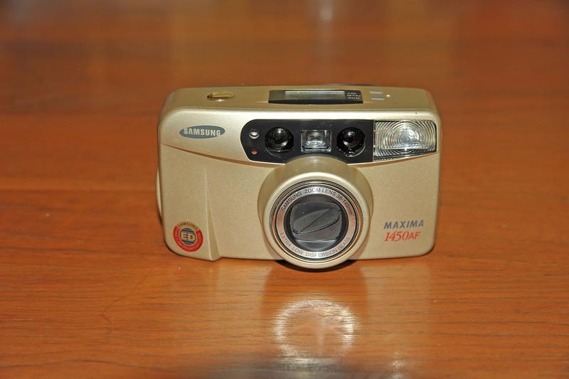 Vintage Antique Cameras - AFTER cleaning and testing - Samsung Maxima 1450AF