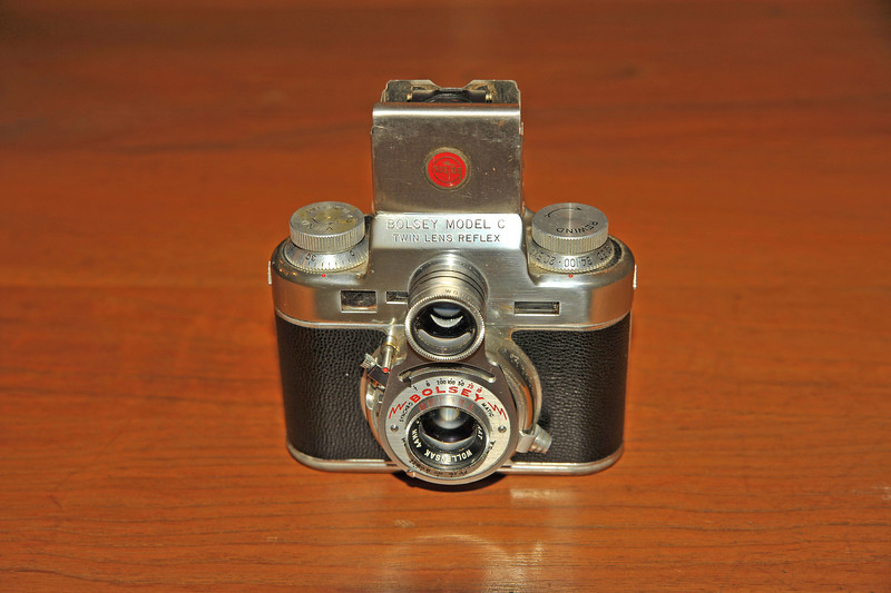 Vintage Antique Cameras - AFTER cleaning and testing - Bolsey Model C Twin Lens Reflex