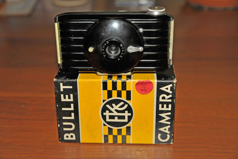 Vintage Antique Cameras - AFTER cleaning and testing - Kodak Bullet Camera
