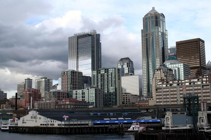 The new WaMu Center Building - Washington Mutual's Headquarter building downtown Seattle.