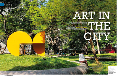 Splash page opener for the Makati Feature article for SilverKris Inflight Magazine