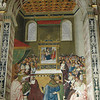 500 year old renaissance Fresco dating from 1502, over 3 meters high, in the Piccolomini library of Siena cathedral. The fresco is one of a series recounting the story of the life of Siena's favourite son cardinal Enea Silvio Piccolomini, who eventually became Pope Pius II. He was the uncle of cardinal Francesco Piccolomini Todeschini (then archbishop of Siena and the future pope Pius III), who commissioned this library in 1492 as a repository of the books and the manuscript collection of his uncle. They were executed between 1502 and 1503 by Pinturicchio and his assistants.