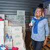 Sandy Mazza with inventory of Sandy Bottom (rum drink) stored in Timonium, MD on November 11, 2017.   Photo by:   Eric Stocklin