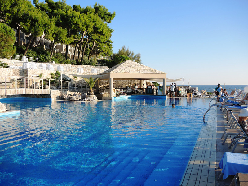 poolside at Dubrovnik's Palace Hotel