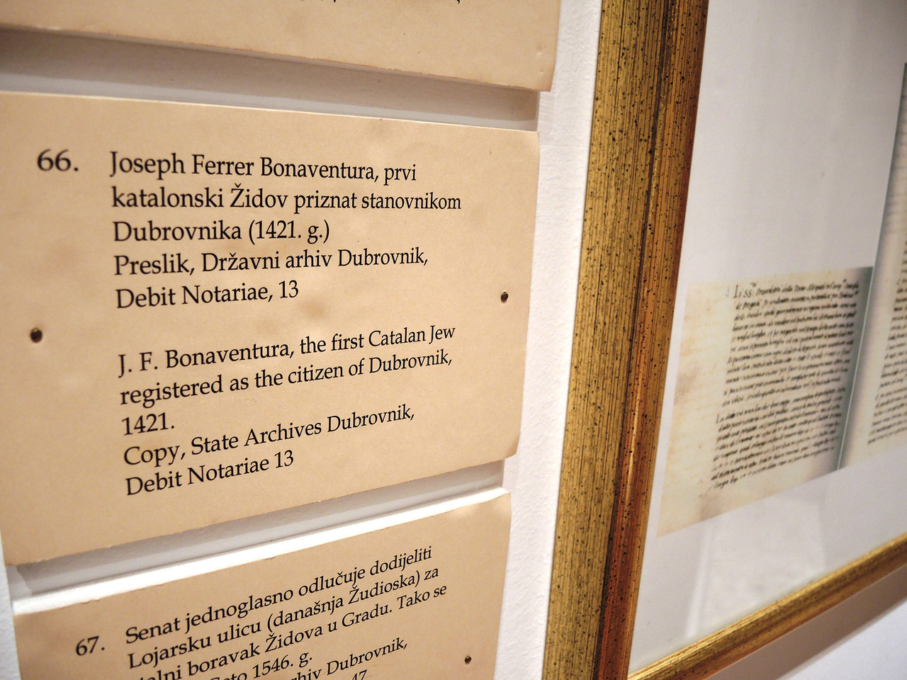 first Jew in Dubrovnik--15th century