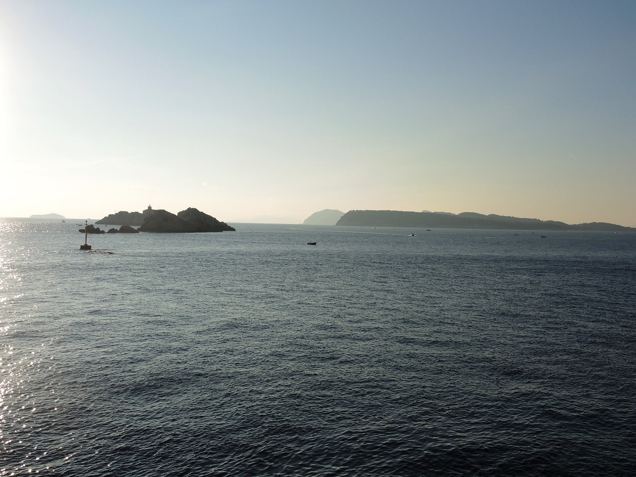 The view from the hotel--panorama: left to right