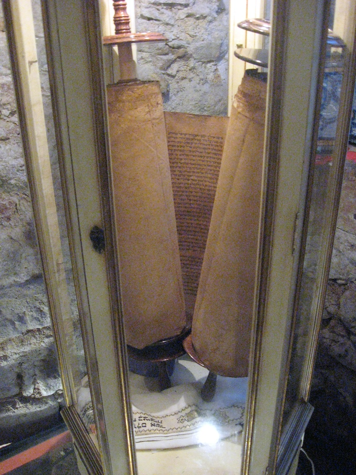 The synagogue's Torah within its Ark.