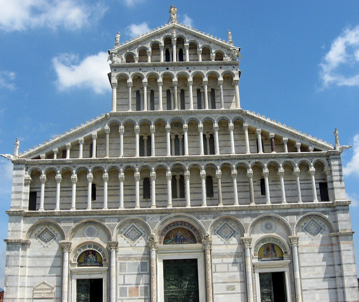 Exterior of Pisa's Cathedral.