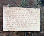 Speaking of Caesar--his remains are supposedly near the Colosseum.