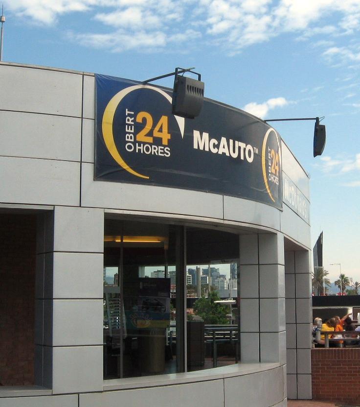 The obligatory McDonald's photo--in Barcelona.