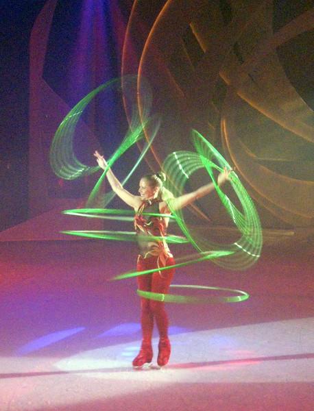 Hula-hooping on ice!