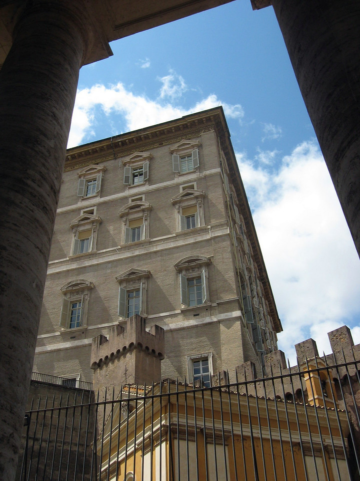 Exterior of the Pope's apartments.