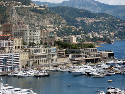 The port in Monte Carlo, adjacent to the city-based track for the world-famous Grand Prix de Monte Carlo.