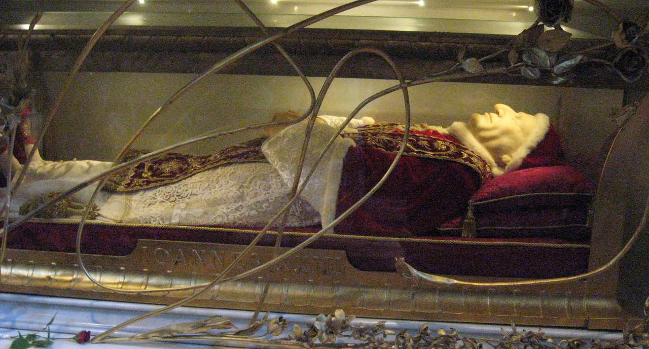 The remains of Pope John XXIII.