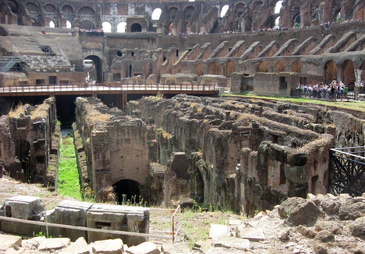 Interior of the Colosseum.