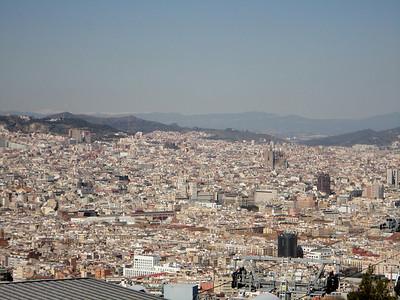 panorama of Barcelona from Montjuric